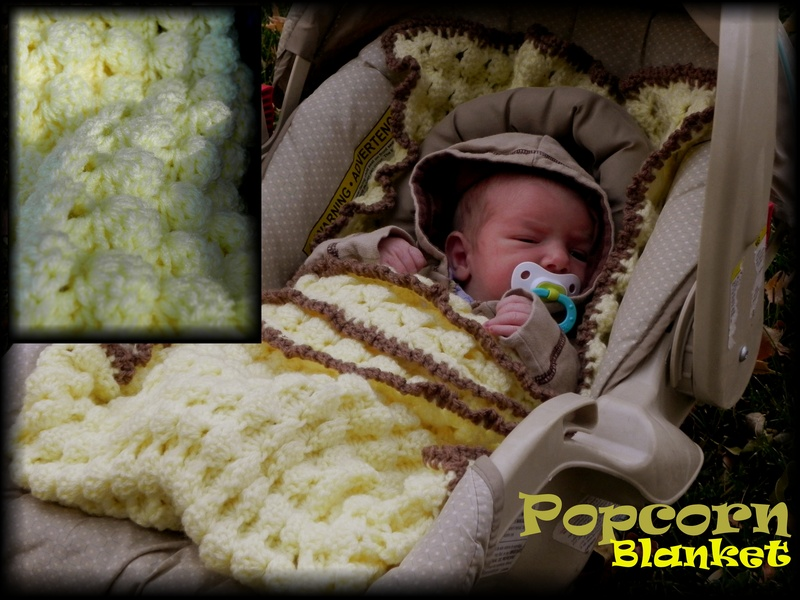Level easy car seat blanket crochet pattern