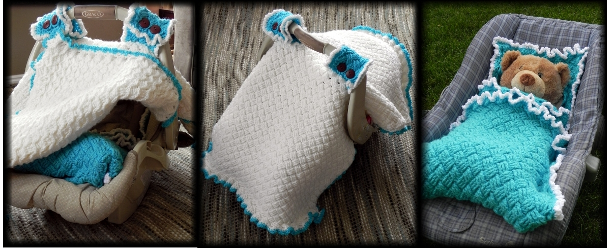 Free Crochet Pattern For Baby Car Seat Cover : Car Seat Canopy/Cover Crochet Pattern